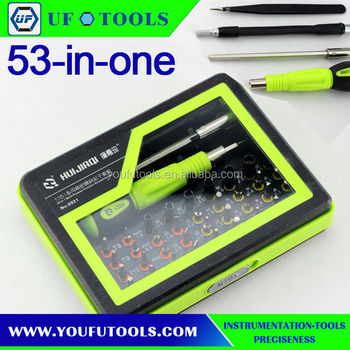 53 in 1 Multi-purpose precision Magnetic screwdriver bit set for PC Notebook phone