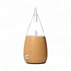 Natural Wood Glass Essential Oil Nebulizer Aromatherapy Diffuser
