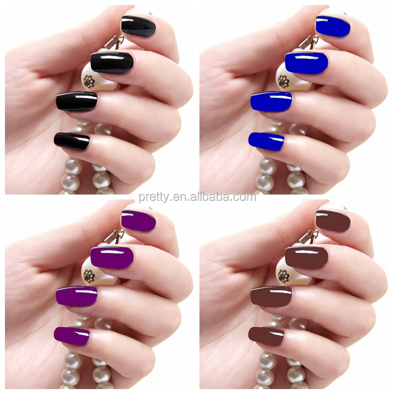 excellence nail design pearl effect nails metal color fake nails ...