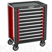 Kinbox Comfort Durable 10 Drawer Steel Glide Tool Boxes For Factory Workshop