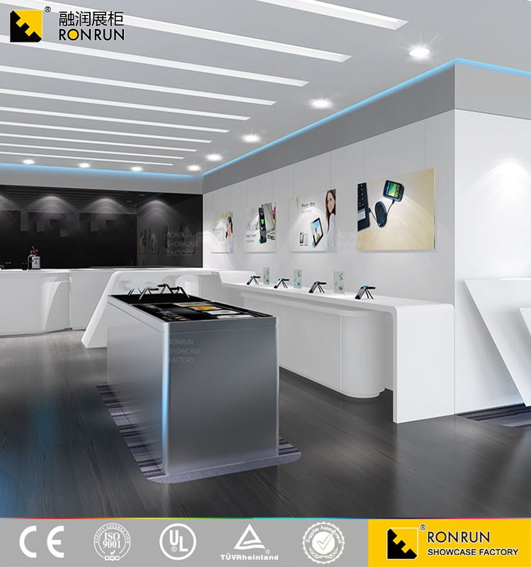 Modern Fashional Mobile Phone Shop Interior Furniture Design For Store Display