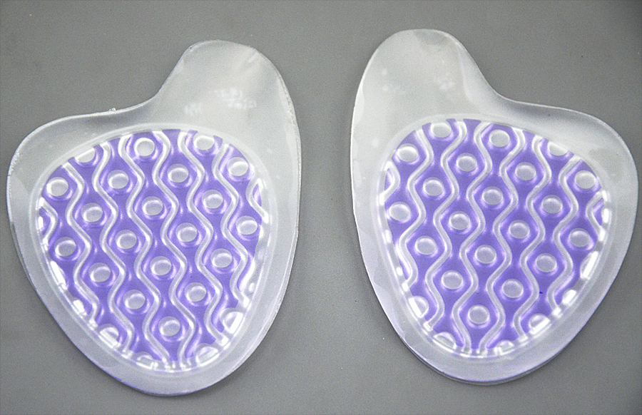 New design 2 color women pu gel forefoot pad/double color insoles