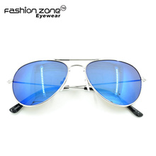 Cheap Promotion mirror aviation metal Sunglasses with Logo Lens