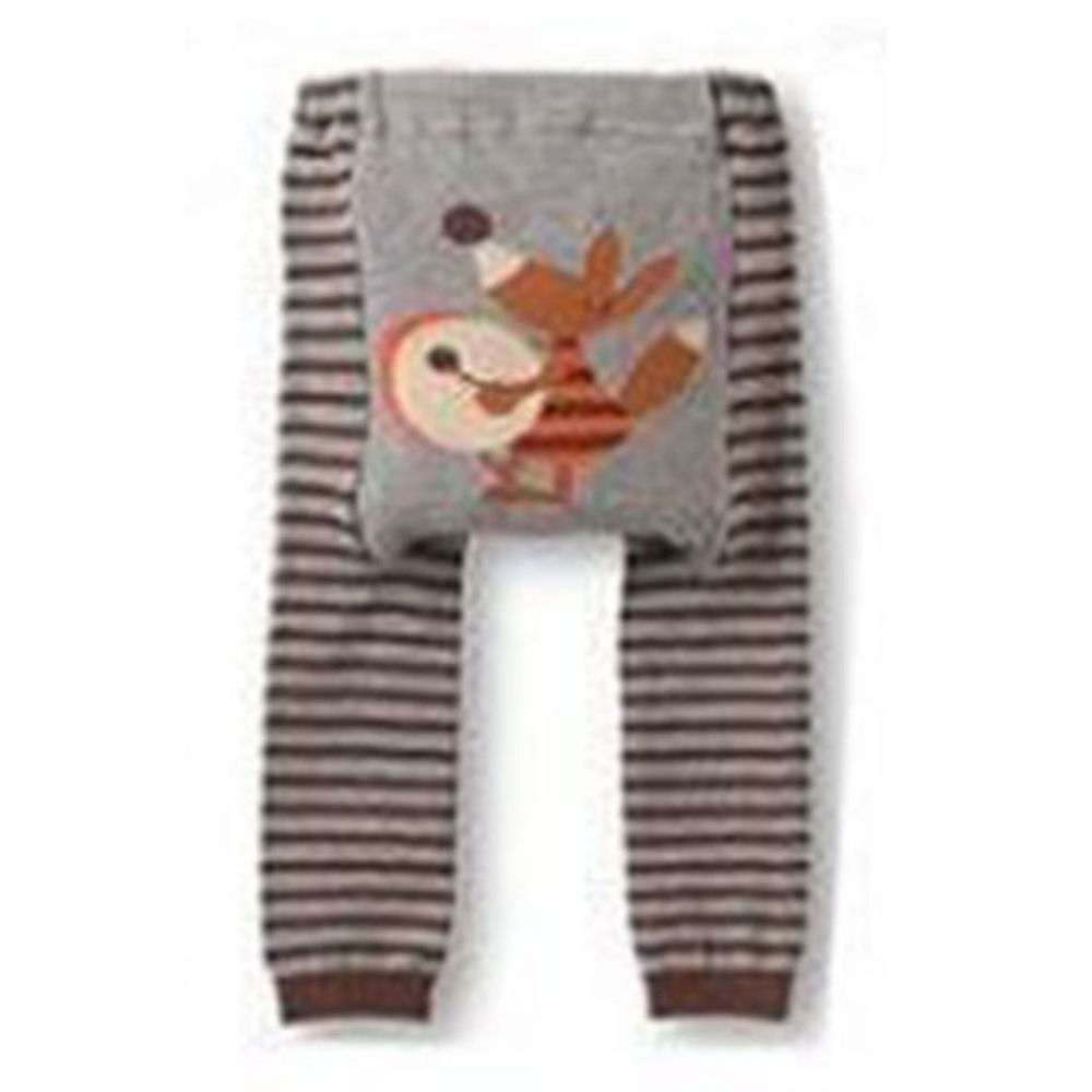 Factory Price Cute Baby Kid Infant Toddler Newborn Cartoon Striped Leggings Long Pants 6 Colors