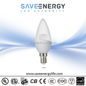 220v 120v 5w Candle Light E12 Type B Light Bulb 400lm