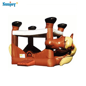 SUNJOY new design popular lovely bounce house horse 0.55mm Plato PVC inflatable bouncer pony bouncy inflatable jumping castle