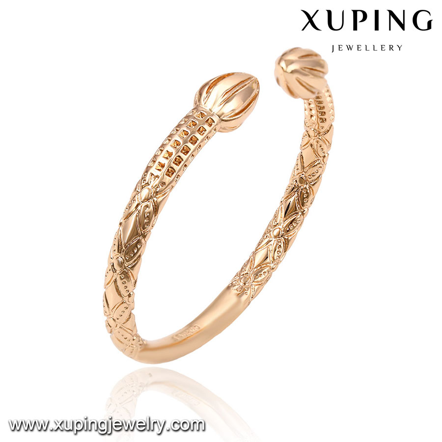 51529-2017 Latest Designs Wedding Rose Gold Bangles For Girls