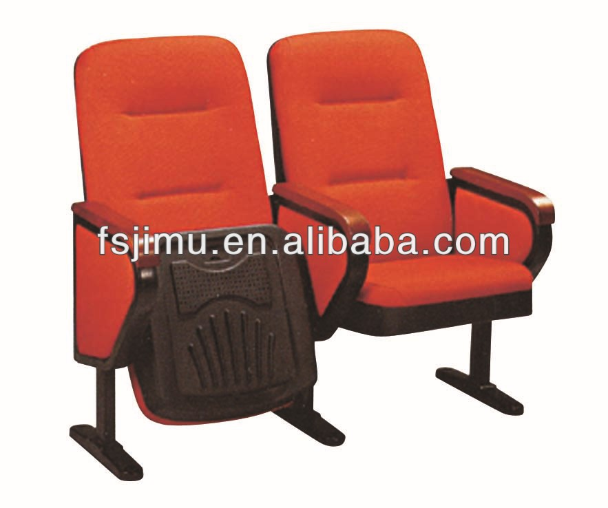 auditorium tables and chair rowing seat pad chair /wooden back&seat auditorium seating