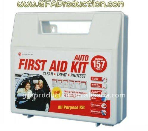 Car/Auto/travel First Aid Kit 157pcs