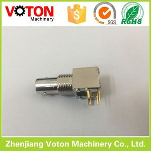 Factory price bnc female connector board pcb mount right angle BNC connector
