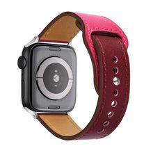 Ремешок из натуральной кожи для Apple Watch band 4 3 iwatch, 42 мм 38 мм 44 мм 40 мм, браслет pulseira correa, аксессуары для умных часов, петля(Китай)