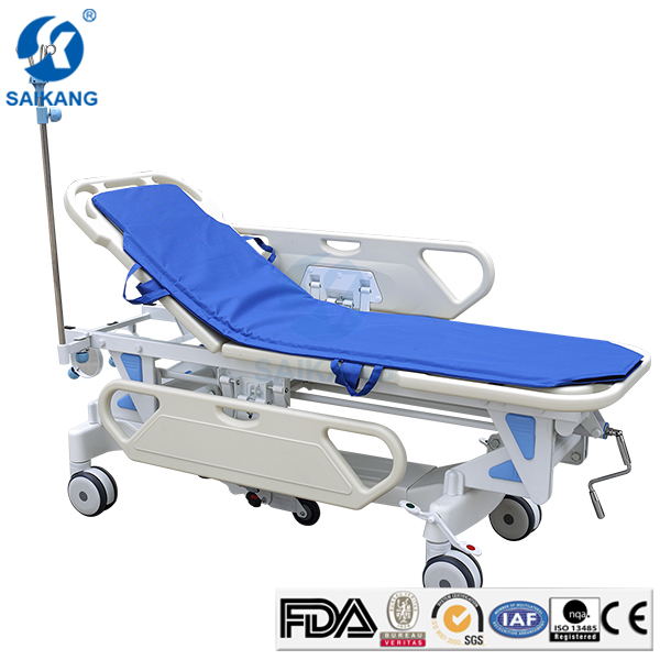 Patient Transport Folding Stretcher,Emergency Resuscitation Trolley