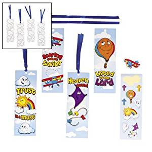 "12 ~ Up & Away Bookmark Sticker Scenes ~ includes 12 cardstock bookmarks and 12 sheets of stickers ~ Bookmark approx. 6""; stickers approx. 1/2"" - 1 1/4"" ~ New in sealed package."