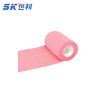 10cm*4.5m Pink Medical cotton elastic cohesive bandage latex free used by doctor, athletes for injury