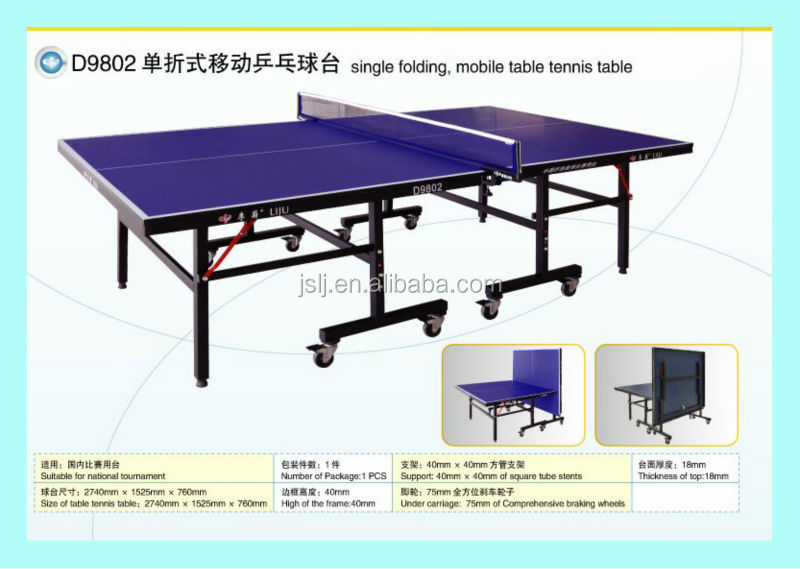 China Double Fish Main Oem Table Tennis Supplier Folding For Training Ping Pong
