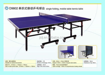 China Double Fish Main Oem Table Tennis Supplier Folding For Training