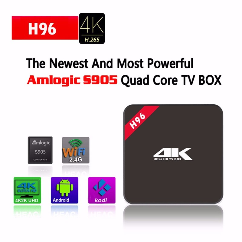 tv box digital satellite receiver H96 4K S905 1g 8g android full hd 1080P video remote control for smart ott tv box
