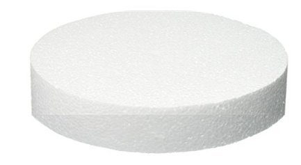 """9"""" X 2"""" Round Cake Decoration Fake Cake Foam Dummy with Butterfly Cake Topper"""