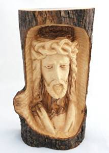 Buy made in bethlehem olive wood original jesus log carving in cheap