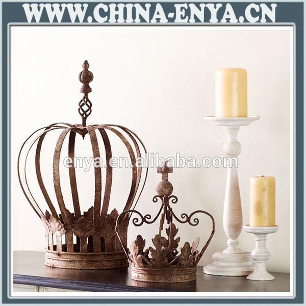 Kings Home Decor: Metal Decoration/decorative Porcelain Crown/antique Metal