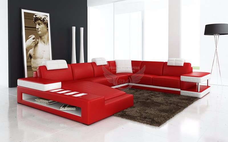 2016 Sumeng Low Price Sofa Set Designs With Led Light