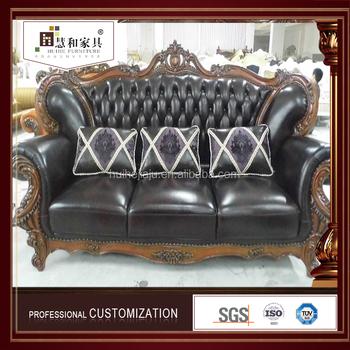 Custom Latest Design Leather Nordic Sofa Set Studded Direct