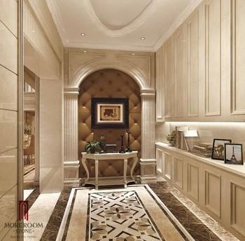 Yunfu Waterjet Lobby Marble Tiles Grey Flower Pattern Floor Design