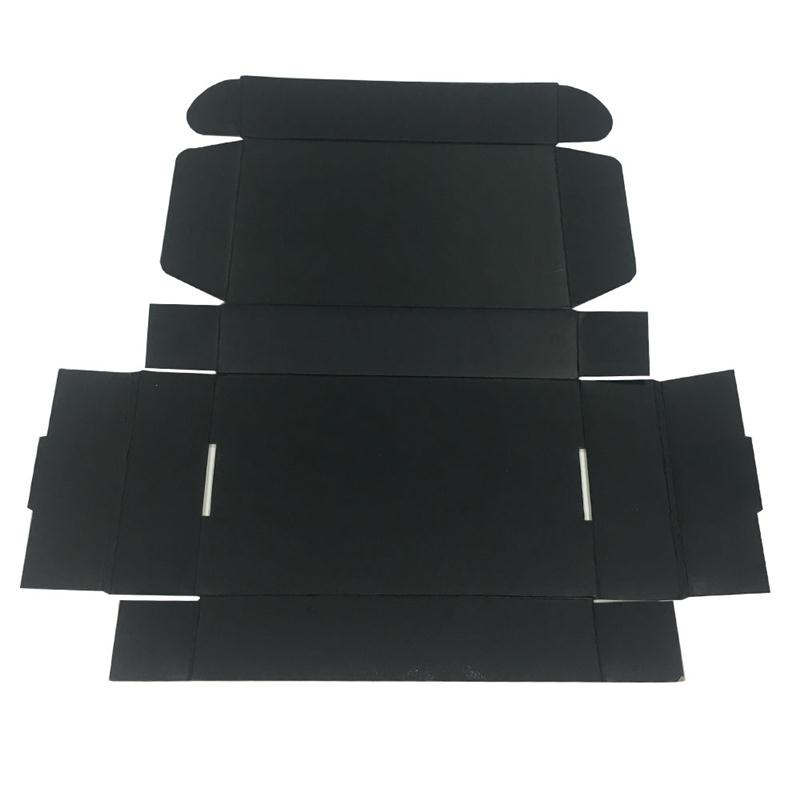 Foldable Easy Shipping Black Paper  Packaging Box for Shoes