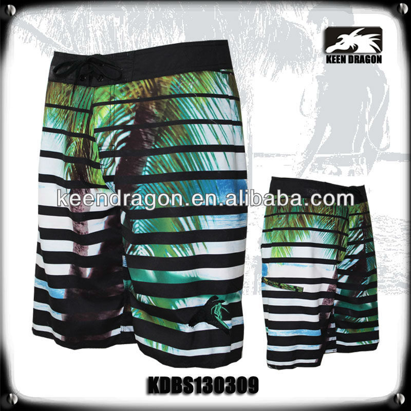 men's palm printed shorts fashion beachwear surf boardshorts