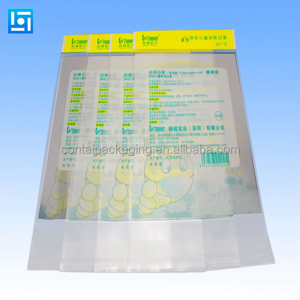 One time use disposable customized printing plastic ice cube bag