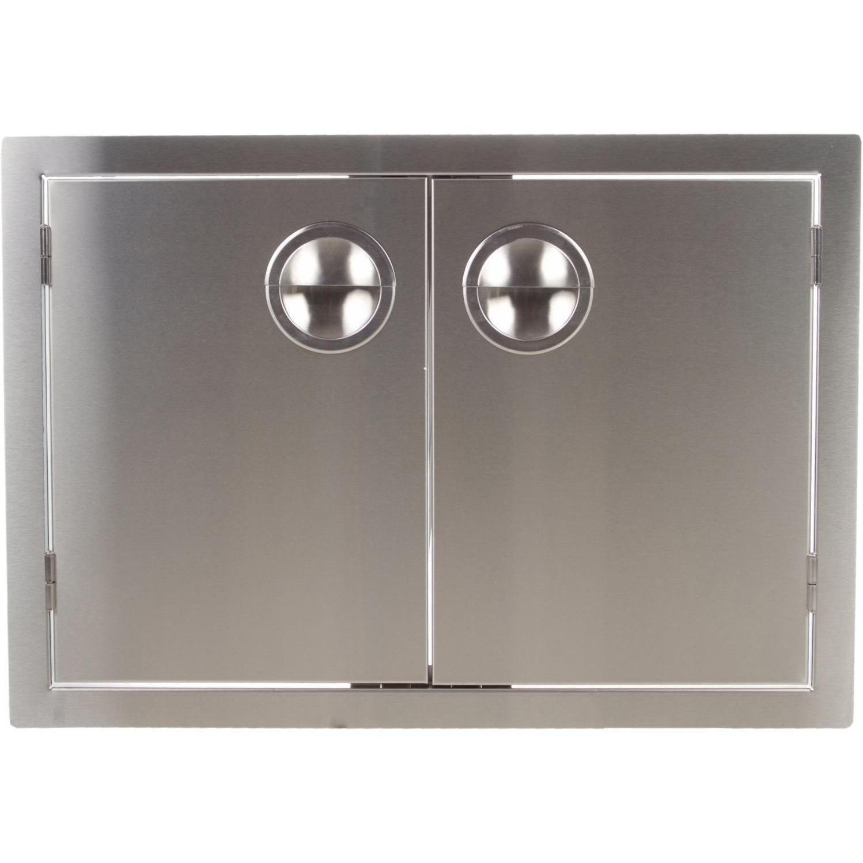 Bbqguys.com Portofino Series 42-inch Stainless Steel Enclosed Cabinet Storage With Shelf