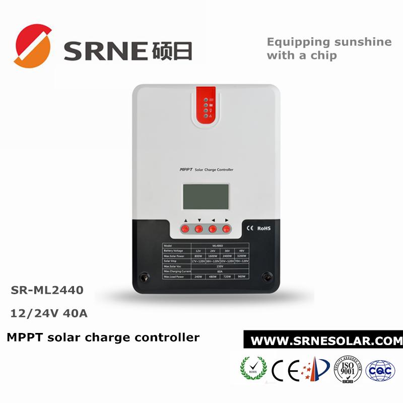Régulateur de charge solaire 40A MPPT 12//24V SRNE
