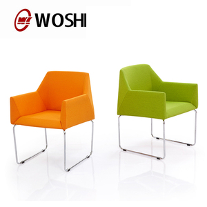 Fabric restaurant chair for dinning hall popular cafe waiting room armrest chair WA-675