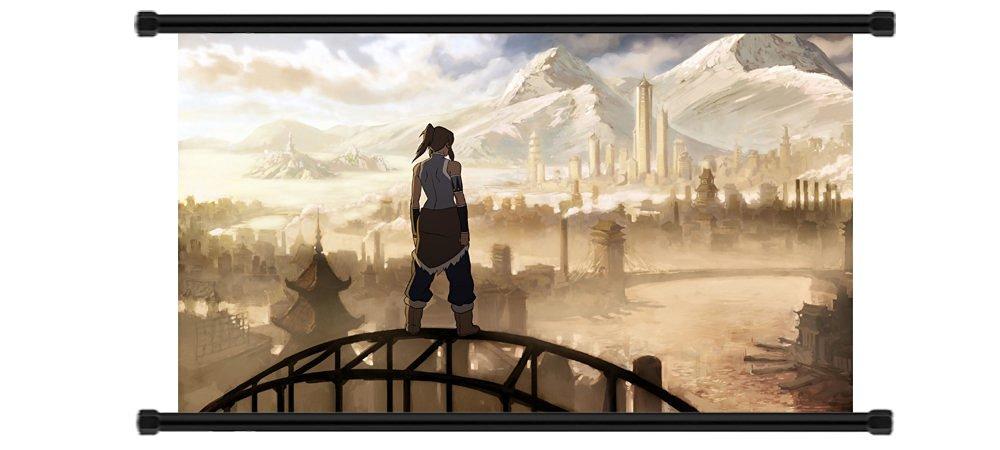"Avatar: The Legend of Korra Cartoon Fabric Wall Scroll Poster (32"" x 18"") Inches"