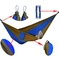 durable attractive outdoor exquisite portable folding tree travel camping nylon parachute hammock with straps hooks