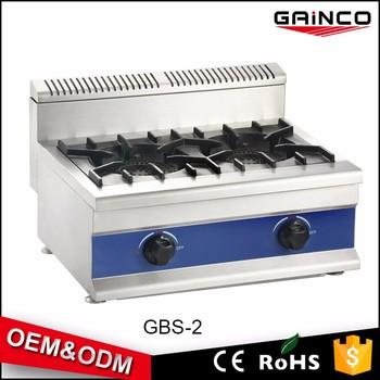Peralatan Dapur Restoran Gbs 2 Cookinggas Ukuran Table Top Gas Kompor Besar