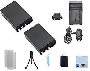 2 EN-EL9 Batteries + Car/Home Charger for Nikon D40, D60, D40X, D3000, and D5000 Camera & More.. + Accessories | EN-EL9a | EN-EL9e