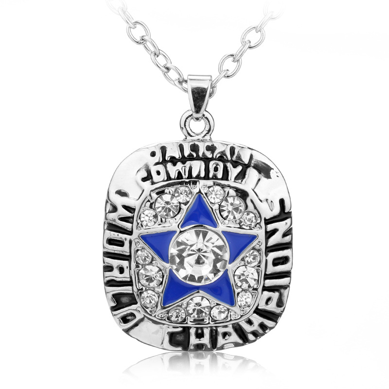 Dls102 dallas cowboys team sport necklace new single side enamel dls102 dallas cowboys team sport necklace new single side enamel football team logo football charm aloadofball Gallery
