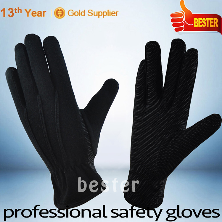New hot sell drill cotton garden gloves with pvc dots