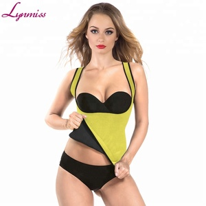 Slimming Undershirts no boning Body Shaper Compression Girdle vest waist trainer for women