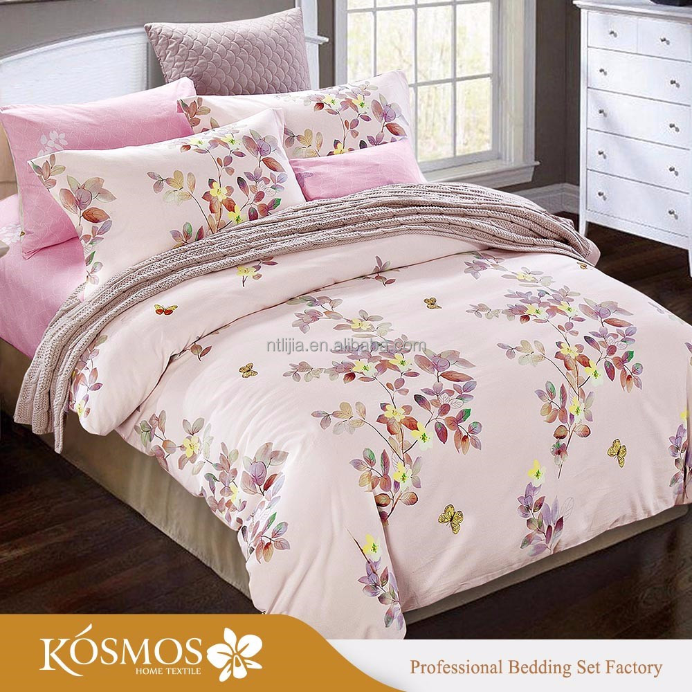 KOSMOS Best Selling Home Textile Disperse Printed Bedding Set Pillow Cover Comforter Sheet Bed Sheet Fitted Sheet