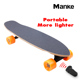 Manke portable mini fish hoverboard 4 wheel electric skateboard balancing electric skate board on sale
