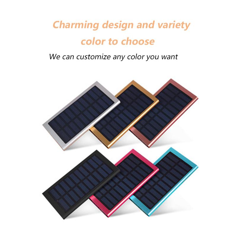屋外 10000 10000mah ソーラーパワーバンク led ライトすべての携帯電話、ソーラー電源銀行スマートフォン
