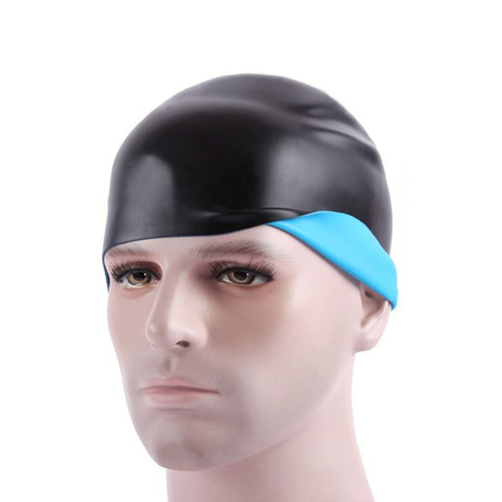 0ed73bbb807 Get Quotations · VANWALK 2-IN-1 Swim Cap - Both Sides Wear Wrinkle-Free  Silicone