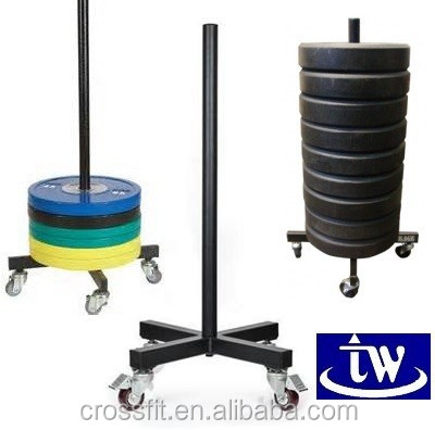 rolling bumper plate rack/Fitness gym weight rack/portable bumper plate tree