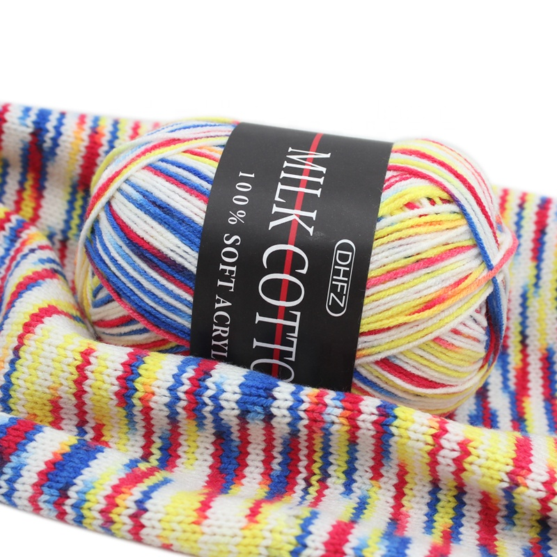 Big sale high quality dyed milk cotton yarn for knitting sweater