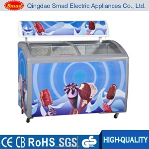 Ice cream display deep chest freezer for popsicle