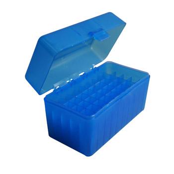 Durable de plástico caja de munición 50 ronda munición recarga equipo de armas (TB-909)