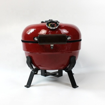 New design portable small ceramic kamado grill for table use