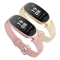 Cheap Factory 0.96 inch Girls Smart Watch Waterproof Smart Wristband or Sports Wristwatch with Special Design for Female